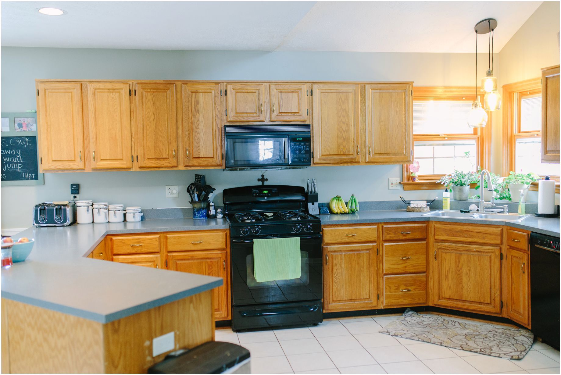 kitchen cabinet with hutch kitchen cabinet makeovers one year later 5871